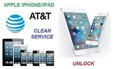 AT&T Apple iPhone 3G-3GS-4-4S-5-5C-5S-6-6+ -6S-6S+ -7-7+ sblocco Unlock Clean