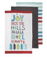 Be Very Merry Christmas Tea Towel 3pk Set