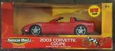 Ertl American Muscle 2003 Chevy Corvette Torch Red Coupe 1:18