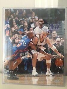 Autographed Jason Kidd NJ Nets vs Marbury 8x10 Photo Steiner COA #KIDDPHS008022