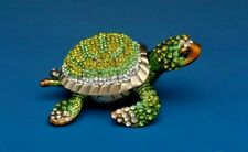 Ciel Collectibles Jeweled Turtle Trinket Box, Green  Box 3.5""