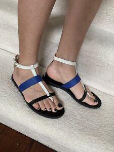 EUC Vince Women's Flat Strappy Thong Sandals Multicolor Size 8.5