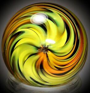 "Rick Davis~NINJA THROW STAR~Glass Marble 2011~SIGNED~42MM/1 & 1/2"""