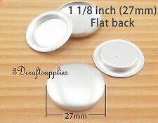 500 sets of cover buttons 1 1/8 inch (27mm) Size 45 Self cover buttons Flat back