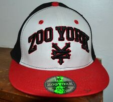 Zoo York Excelsior Logo Stretch Fit Fitted Logo Hat Youth M/L Red Black White