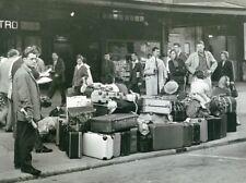 France Paris Austerlitz Railway Train Station Lots of Luggage Old Photo 1951