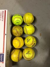 Lot of 8 League Softballs Various Brands