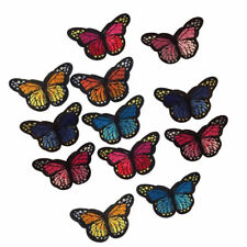 1X(12 Pcs Clothes Patches for Bailing Up or Sewing, Butterfly Patch Sticker L1M1