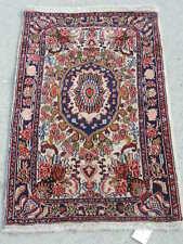 2x4ft. Handmade Sarouk Wool Rug