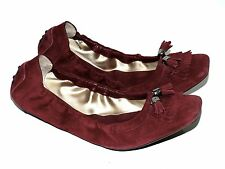 TOD'S TODS SCHUHE BALLERINAS KAMINROT SUEDE/RED GR:38 !!!