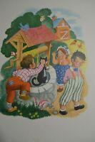 Vintage Penn Prints New York Ding Dong Bell Nursery Rhymes 1940's