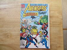 1993 AVENGERS #350 64 PAGES FOLD OUT COVER SIGNED 2X STEVE EPTING,TOM PALMER POA