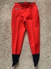 New listing Vintage Bogner Ski Pants High Waist Stirrup Red Black Snow Winter Cold Wool 12