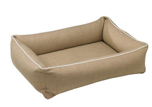 Bowsers Urban Lounger Dog Bed (Flax, Large)
