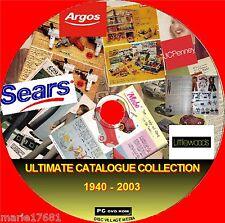 Gran Colección de venta Catálogos Argos rejillas + 1940- 2003 On PC DVD-ROM