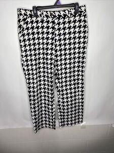 Loudmouth Performance Golf Pants Black White Mens Sz 38 (38/30)