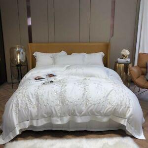 Floral Duvet Cover Set Soft Bedding Set Bed Sheet Pillowcase Queen King 4Pcs