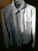 Gant women's size 10 blue striped shirt