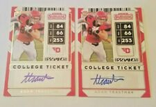 2020 CONTENDERS DRAFT PICKS COLLEGE TICKET ADAM TRAUTMAN ROOKIE/RC AUTO x 2