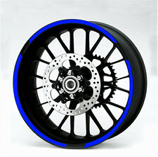 Motorbike Strip Tape Decal Sticker for Wheel Rim Reflective Blue 600mm 7mm
