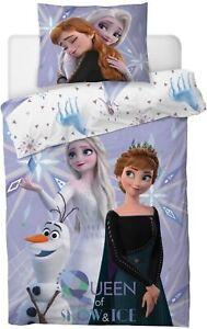 Disney Frozen Elsa Anna Olaf Mädchen Bettwäsche  80x80 cm 135x200 cm