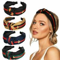 Fashion Ladies Hairband Striped Bow Knot Bee Head Band Hair Accessories
