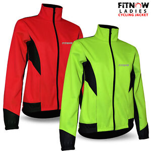 Womens Cycling Jacket Winter Thermal Fleece Windproof Windstopper Long Sleeve
