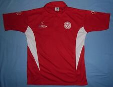 Shelbourne FC (Ireland) / Balon Sportswear - MENS red + white polo Shirt. Size L