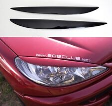 Front Headlight Eyelids for Peugeot 206 98-06 eyebrows mask cover brows eye head