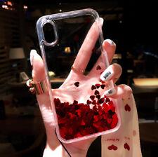 Cute Glitter Moving Quicksand Liquid Soft TPU Phone Case For iPhone X 6 7 8 Plus