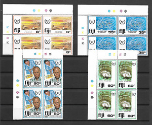 Fiji 1981 International Year for Disabled Persons - MNH Plate Block Sc438-441