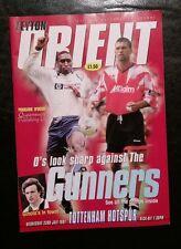 Leyton Orient V Tottenham 23rd LUGLIO 1997 PROGRAMMA AMICHEVOLE Brisbane ROAD Speroni