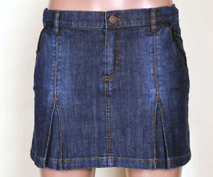 Burberry Denim Jean  Skirt NOVA CHECK US 12 Y.100% authentic...