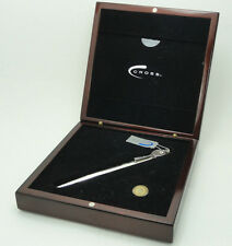 Cross Sterling Silver Limited Edition 18Kt Gold Fountain Pen Tennis Hall Of Fame