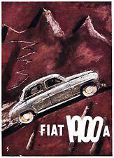 PUBBLICITA' 1955 FIAT 1900 A SALITA VELOCITA' MONTAGNA ALPI MARIO SIRONI SASSARI