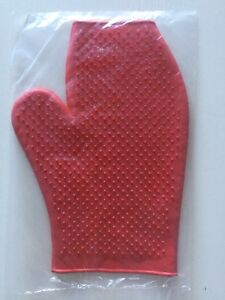Grooming Mitt/ Glove, RED, Horses, Dogs, Cats, FREE UK Postage