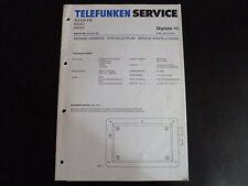Schaltbild  Service Informationen Telefunken  Digitale 10