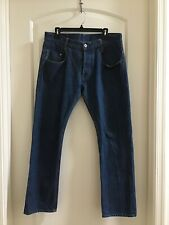 G Star Raw GS01 Men's New Radar Tapered Button Fly Indigo Jeans 34x29 Pre-Owned