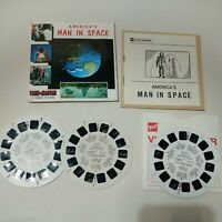Viewmaster Reels America's Man In Space 1962 x3 With Leaflet B6571-3 NASA Mercur