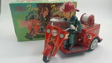 (See  Video) Tin Toy NOMURA Fire Tricycle with ORIGINAL Box