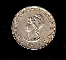 BRAZIL SILVER COIN 500 REIS, 1889 YEAR