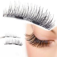 4 Pcs/Set Magnetic False Eyelashes Messy Fluffy Style Reusable No Glue Lashes.
