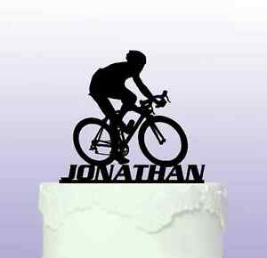 Personalised Road Bike Cake Topper