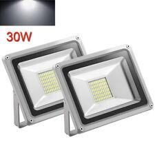 2 x 30W Cool White 12V LED Flood Light Outdoor Garden Yard Spot Lamp Waterproof