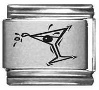 Clearly Charming Martini Glass Laser Italian Charm