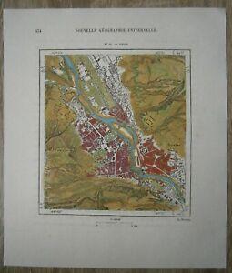 1881 Perron map TIFLIS TBILISI, GEORGIA, CAUCASUS  (#49)