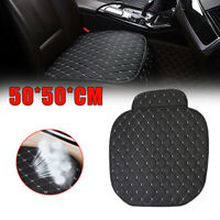 Car Seat Cover Front Cushion PU Black+White Line Universal Car Auto Accessories