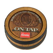 Coors Barrel Head Wall Beer Sign 3D Plastic Looks Like Wood Bar Advertisement