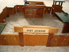 !!! TIMPO TOYS - MANY RARE WOODEN FORT-PARTS  - SCALE 1:32 !!!