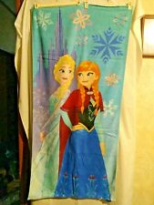 "Preowned Disney Frozen Ana and Elsa Beach Towel 28"" X 58"""